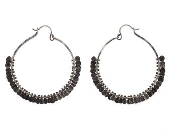 Extra Large Paillette Hoops