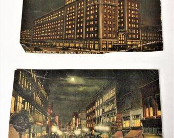 Vintage 1912 and 1913 Post Card - Kansas City, Missouri