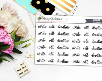 Author/Writer Lettering Planner Stickers