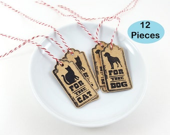 Pet Gift Tag, Dog Gift Tag, Cat Gift Tag, For the Dog, For the Cat, Gift Tags for Pets, Cat Tags, Dog Tags, Pet Party, Pet Party Bag Tags