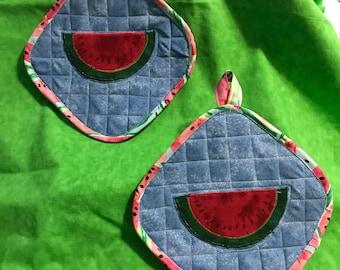 Watermelon potholders