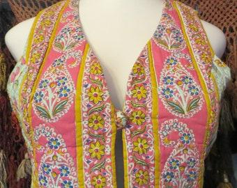 Bergdorf Goodman Thai Hand Tailored/Hand Screened Cotton Vest