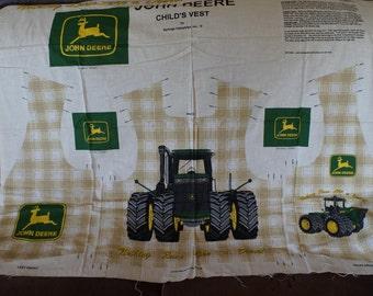 John Deere Child's Vest Fabric Panel