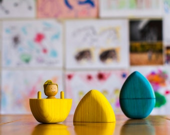 Wooden Easter egg, wooden toy