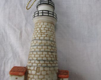 Lefton Boston Lighthouse Ornament 1994 w sticker signed