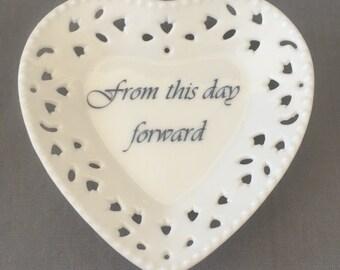 "Heart Mini Tray - ""from this day forward"""