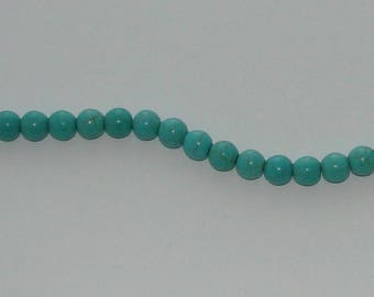 10 pearls 8 mm turquoise howlite