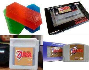 Zelda Gift Set, Six Bars of Soap, Zelda gift, gift set zelda, rupees, BOTW, Breath of the Wild, N64, Nintendo 64, Ocarina, Legend of Zelda