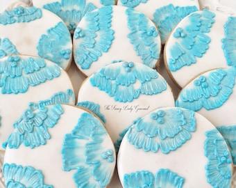 Custom Brush embroidery cookies 1 dozen
