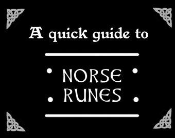 Printable Norse Runes Booklet • Viking Runes • Norse Runes • Elder Futhark • Digital Download • Digital paper • Pagan • Odinism • Rune set