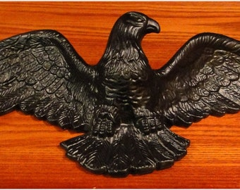 CAST IRON black Eagle Sculpture Wall Art for Above Door Home American HEAVY & Cast iron eagle | Etsy