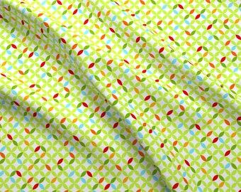 Modern Trellis Fabric - Happy Trellis Green By Carinaenvoldsenharris - Trellis Modern Floral Star Cotton Fabric By The Yard With Spoonflower