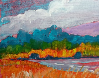 Valley Storm 20 original abstract landscape oil painting