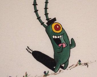 Plankton Custom Painting on Clothing!