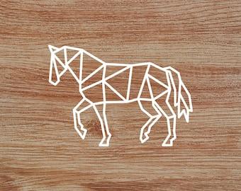Polygonal Horse Decal