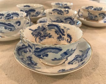 Taylor & Kent Vintage Bome China Teacups