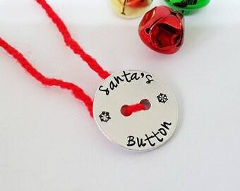 Santa's Lost Button, Children's Stocking Filler, Christmas Tradition, Child's Christmas Keepsake, Christmas Gift, Christmas Decoration