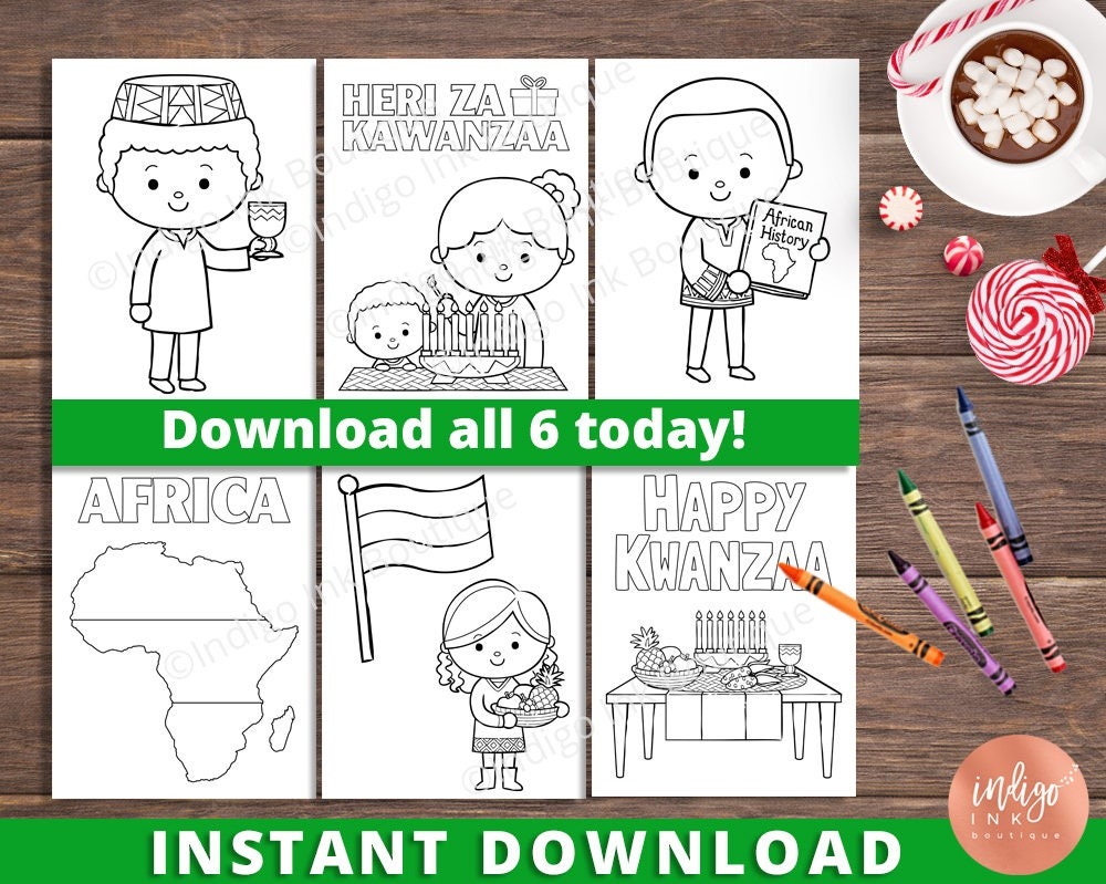Kwanzaa Coloring Pages for Kids Africa Coloring Sheets