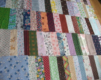"Mother's Day Gift 84 Vintage 1930's 40's 50's 60's Feedsack Fabric Cotton Charming 6 X 6"" Quilt Blocks for Mom Flour Sack Patchwork Quilting"