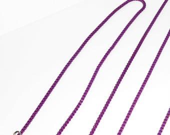 Long Chain Necklace, Wrap Around, Extra Long, Wine, Eggplant, Purple, Plum  - item S07