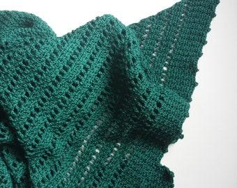 Crochet Pattern - Nettle Shawl Wrap Scarf 4ply Fingering Instant Download PDF