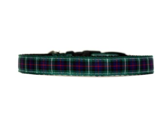 5/8 or 3/4 Inch Wide Dog Collar with Adjustable Buckle or Martingale in Holiday Collar MacKenzie