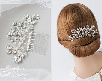Wedding hair jewelry, crystals and rhinestones bridal hair comb, bridal hairpiece