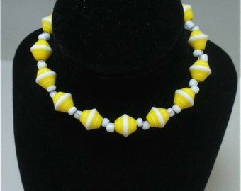 Lemon stripe bracelet