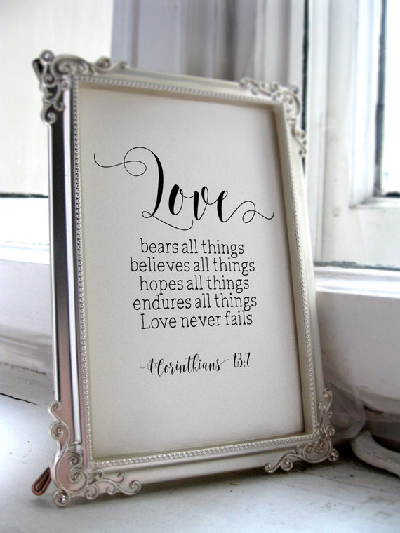 Homemade Wedding Gifts For Bride And Groom: Wedding Quotes For The Bride And Groom 1 Corinthians 13:7