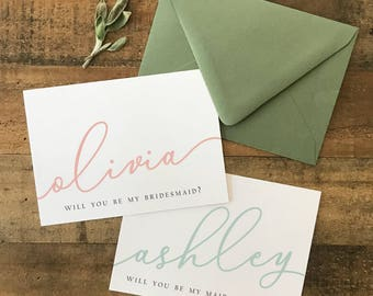 Personalized Bridesmaid Proposal | Maid of Honor Proposal | Bridesmaid Card