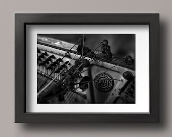 Music Art, Black and White Photography, Monochromatic Art, Gift for Music Lover, Piano Photography, Black and White Art, Music Photography