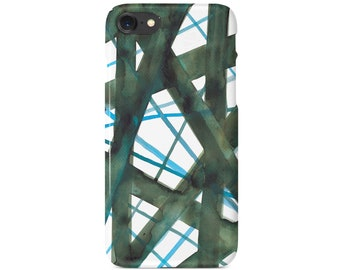 Green phone case,Geometric Case for iPhone,Slim Iphone Case ,Abstract print iphone Case,iPhone X,Abstract Case Print,Minimalist Case Iphone