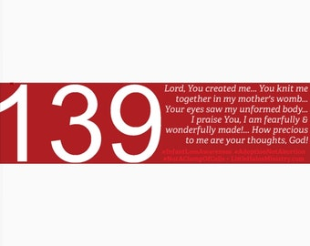 Psalm 139 bumper sticker