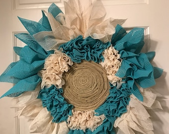 Flower Wreath, Shelf Liner Wreath