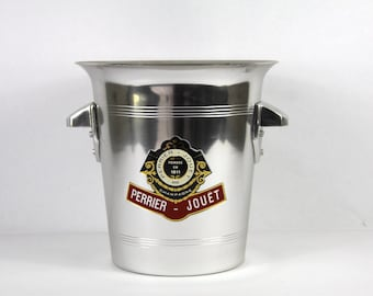 French Vintage Champagne Bucket Perrier Jouet, Home Bar, Man Cave