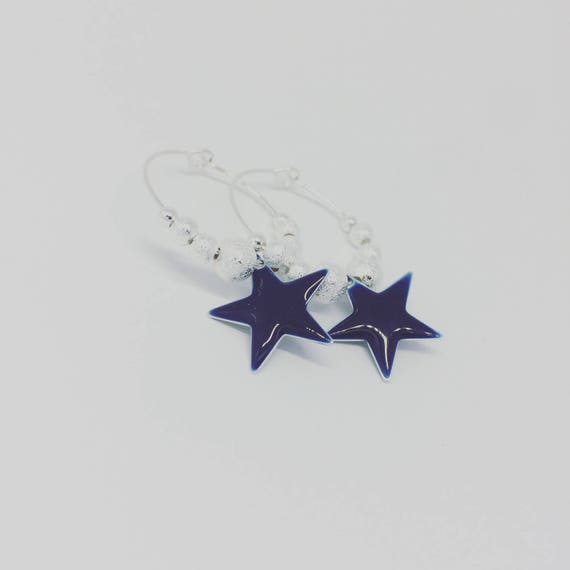 My buckles of ears Creole silver Big Stars (small size) by Palilo