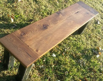 5' Rustic Finished Farmhouse Pine Bench