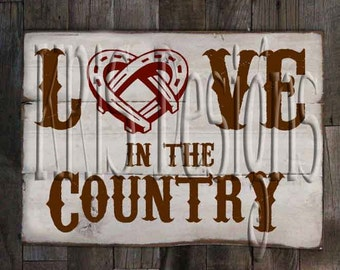 Love in the Country SVG PNG JPG