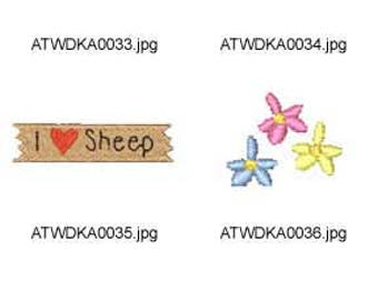Sheepadillies ( 26 Machine Embroidery Designs from ATW ) XYZ17D