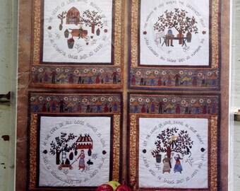 Bushels of Joy Quilt Wall Hangings Pattern by Fiber Mosaics