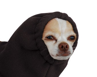 CHIHUAHUA Dog Hood, Dog Winter Hat, Fleece Hood, Dog Snood, Pet Accessories, Dog Clothing, Clothes for Dogs, Ear Warmer, Dog Neck Warmer,