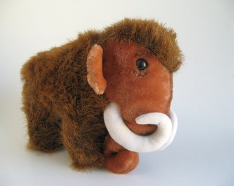 Vintage Woolly Mammoth Stuffed Animal by Dakin 1980s Toy