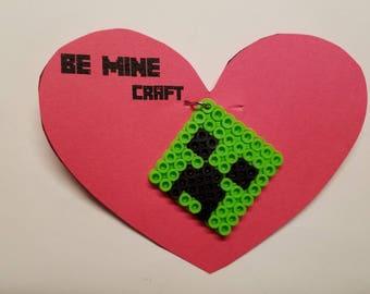 Minecraft Valentine's - Set of 8 keychains with cards