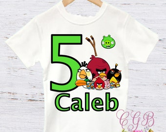 Angry birds birthday shirt, angry birds birthday