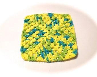 Summer Splash Crocheted Square Dish Cloth