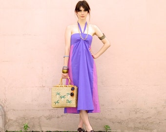 Organic clothing, Fair trade Cotton, Peppi Two Tone Summer Dress