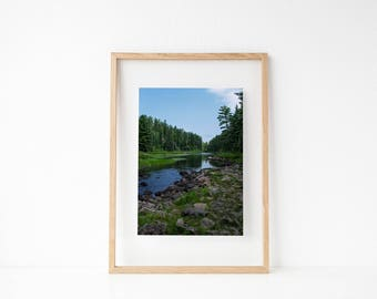 Large Nature Prints Wall Art Large, Rustic Home Decor Wall, Extra Large Wall Decor, Boundary Waters, Minnesota Gifts For Men