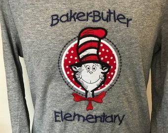 Baker-Butler Elementary School Spirit T-Shirt Ladies Medium