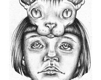 Sphinx Head (Print)