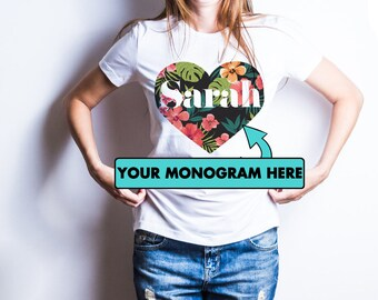Personalized shirts for women / Personalized t shirts / Monogram shirts for women / Monogrammed shirts / Bridesmaid shirt /